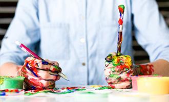 Teens painting photo